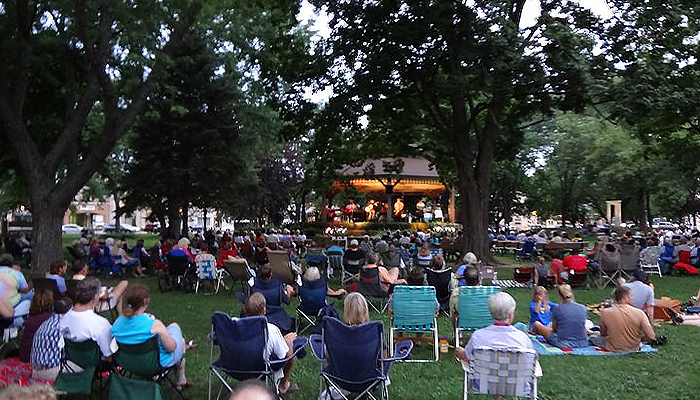 Lake Mills WI Commons Park bandstand
